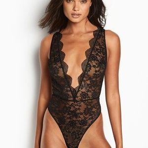 Victoria's Secret Floral Lace Teddy Bodysuit Slip